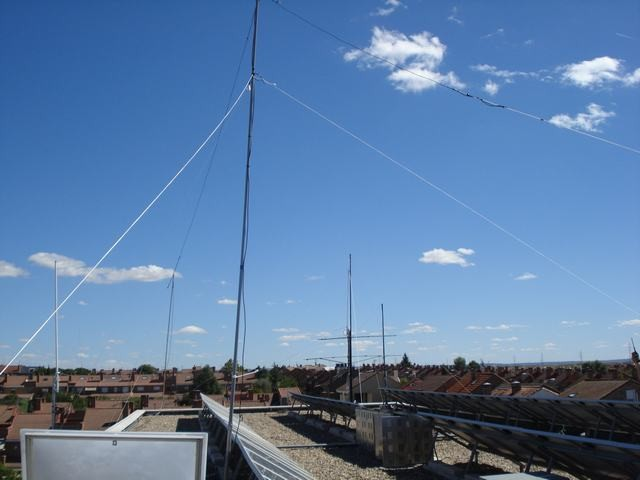 Antenas del EA4RCH (Radio Club Henares)