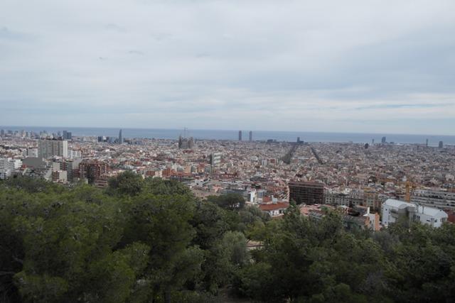 Aussicht auf Barcelona.