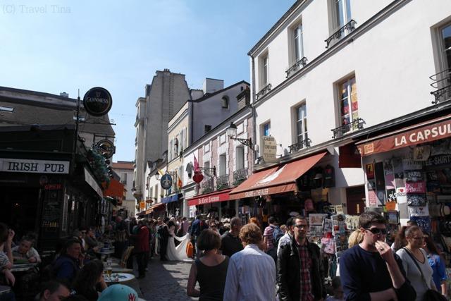 Künstlerviertel Montmatre.