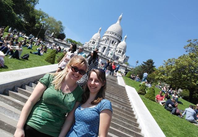 Mit Anja vor Sacre Coeur, definitiv mein Lieblingsort von Paris soweit.