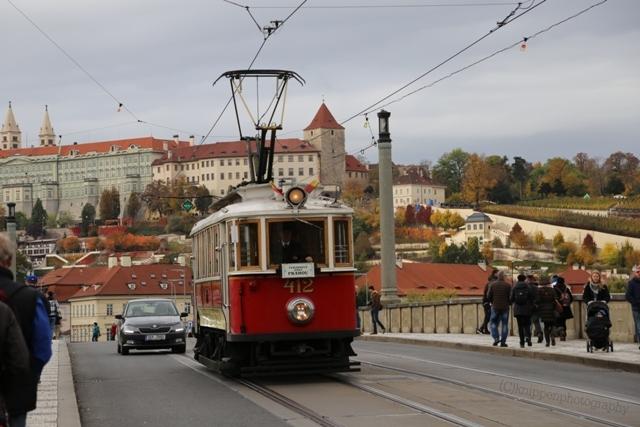 Historische Straßenbahn.