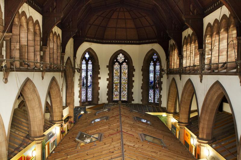Blick auf die Zimmer in der Kirche. (Foto: Hostelworld.de)