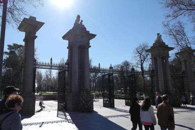 Eingang zum Stadtpark Retiro