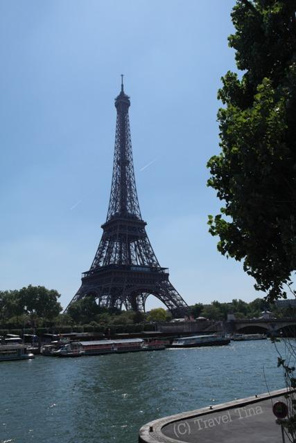 Blick auf den Eiffelturm - herrlich!