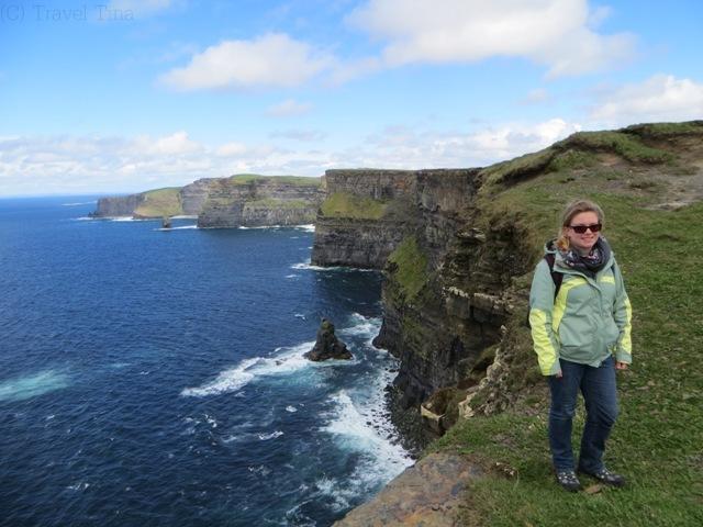 Endlich! Blick auf die Cliffs of Moher.
