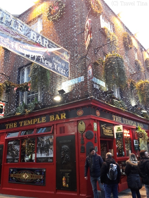 Touri-Motiv Nummer Eins: Die Temple Bar im Temple Bar Viertel.