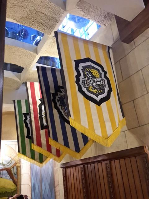 Die vier Flaggen der Hogwarts-Häuser.