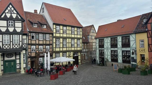 Gemütliche Fachwerk-Architektur in Werningerode/ Deutschland.