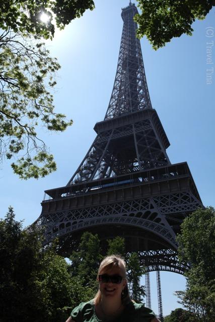 Das obligatorische Foto vorm Eiffelturm.
