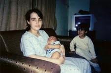 Nathalie, Samir et Abdullah bébé en Arabie Saoudite - fin 2006