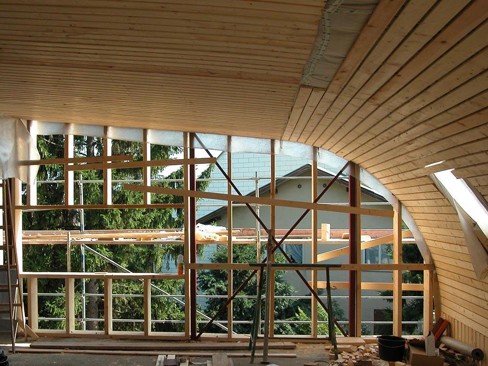 Dachkonstruktion ohne Unterzüge