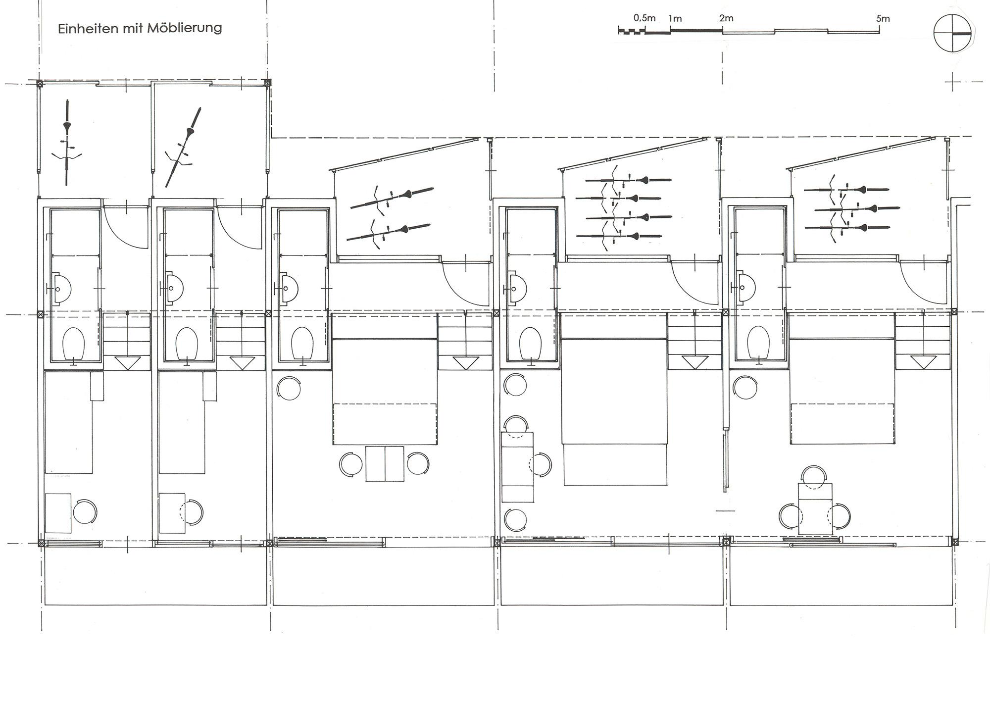 Zimmer mit integrierten Radabstellplätzen