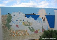 Santorini_und Meer_großes_Gemälde