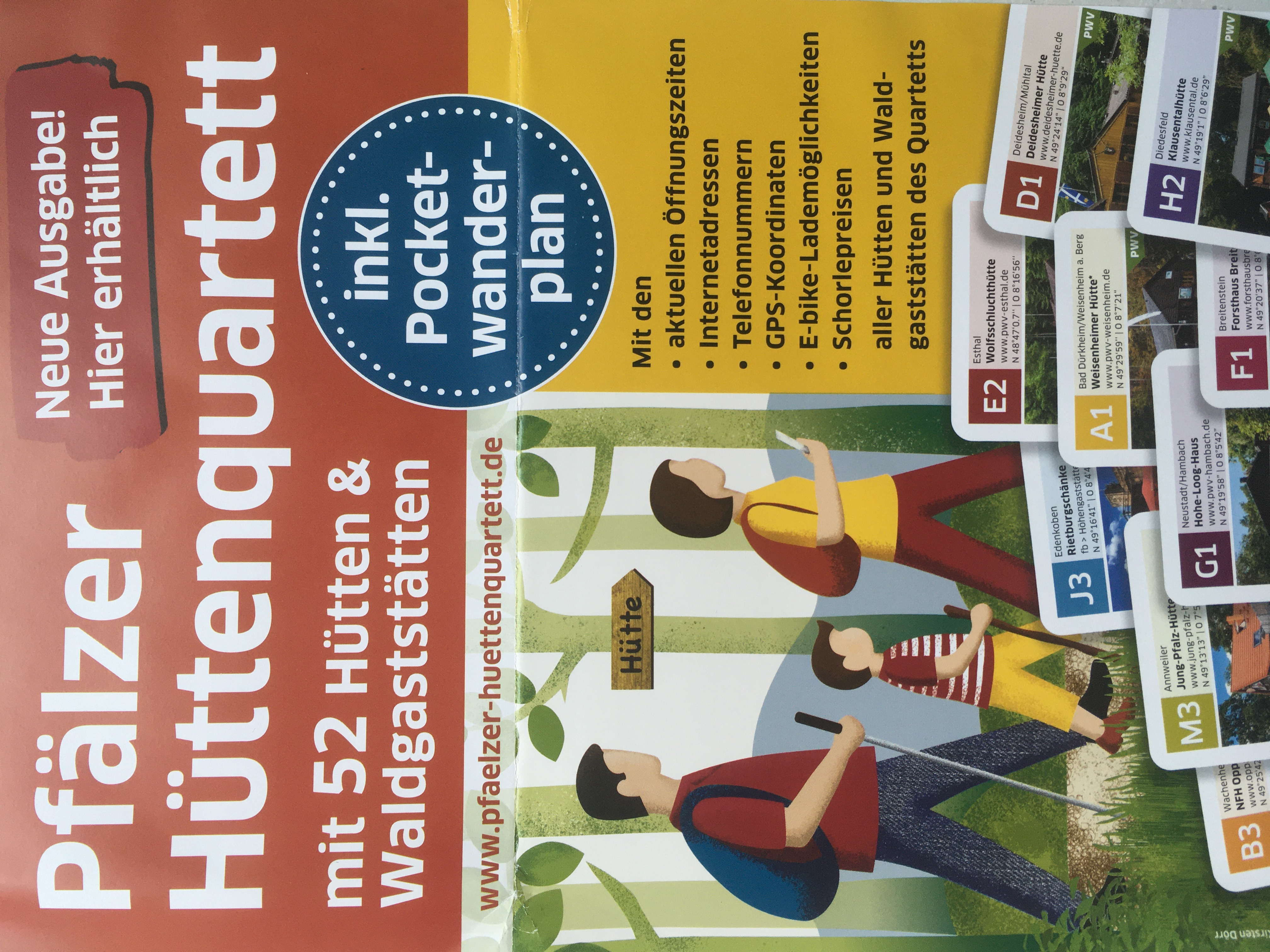 Pfälzer Hüttenquartett neu 5. Auflage Pfälzer Wald Hütten Rieslingschorle Leberknödel Durchmesser Kartenspiel