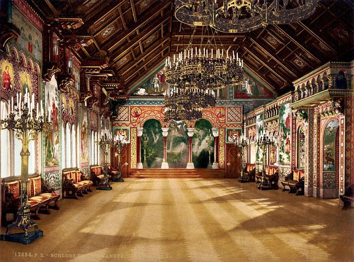 Heiratsantrag im Schloss Neuschwanstein, im Sängersaal