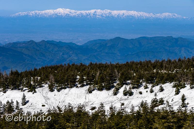 蔵王から見る山形の山々