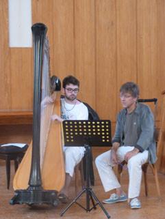 Classe de harpe avec fabrice Pierre