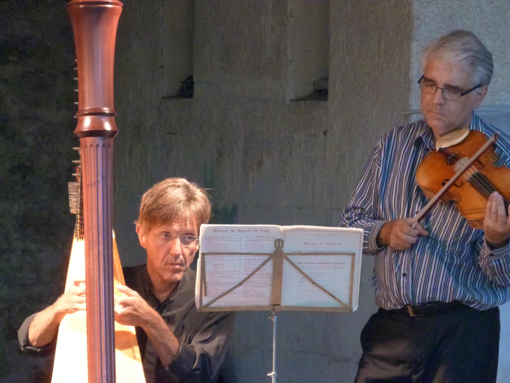 Fabrice Pierre à la Harpe et Pierre-Henri Xuereb à l'alto