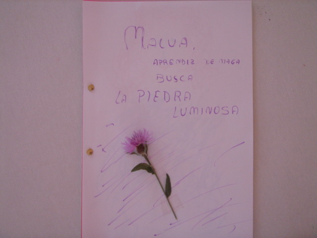 portada con adorno floral