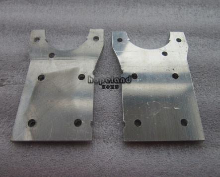 6mm thick. laser cut aluminium part