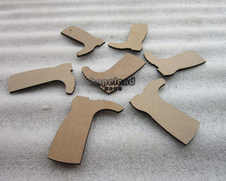 MDF laser cutting, boot shapes