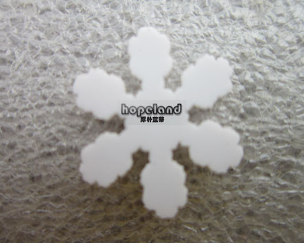 White acrylic,snowflakes laser cutting