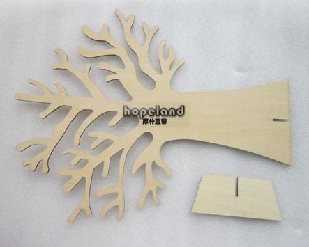 plywood tree laser cutting