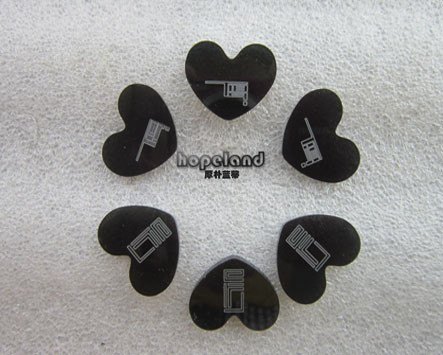 black transparent acrylic laser cutting, heart shapes