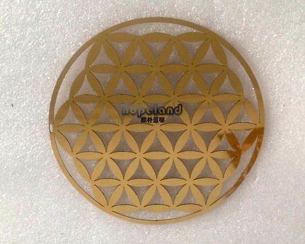 gold mirror stainless steel 304 laser cutting metal craft