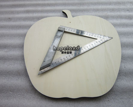plywood laser cutting, apple shape