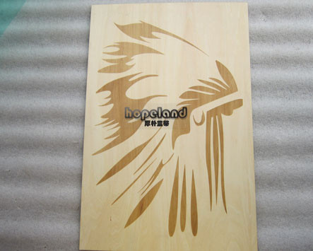 Laser engraving/etching plywood