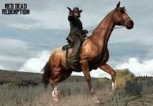 Hoch zu Pferd, den Colt im Anschlag....so stellt man sich einen Cowboy vor. [Quelle: rockstargames.com]