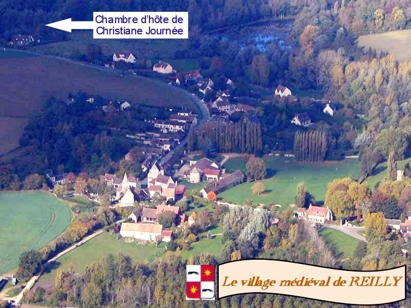Vue générale du village de Reilly