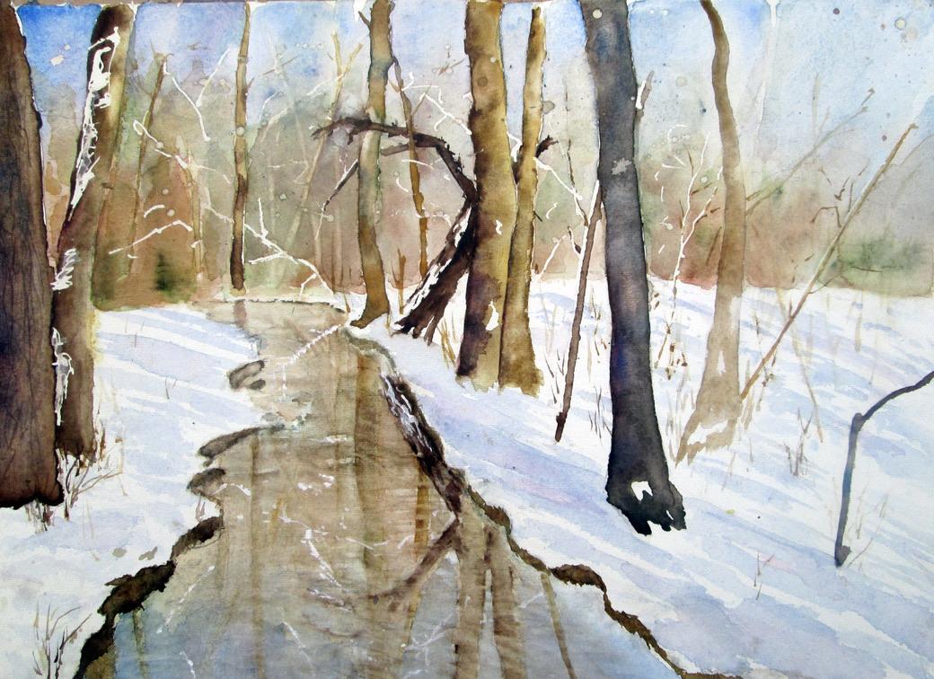Wintertag am Bach (Christina Claus)