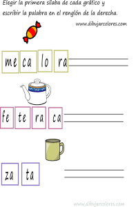 primera sílaba de taza