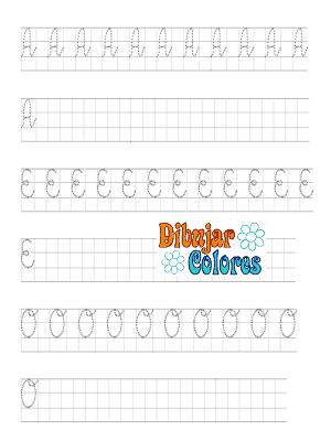 caligrafía cuadrícula con letras 02