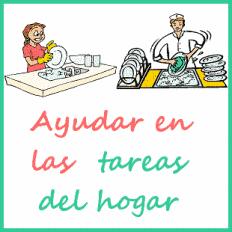 colabora en las tareas del hogar