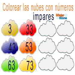 nube 4 colorear