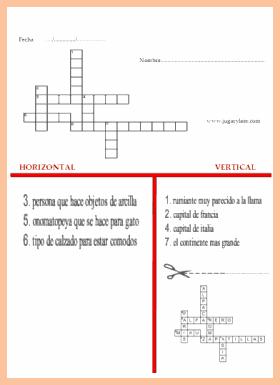Los crucigramas activan el cerebro, promueven la búsqueda  de respuestas y aumentan el conocimiento