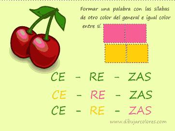 sílabas de cerezas