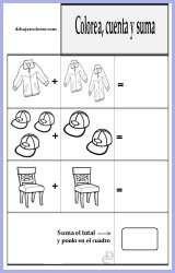 Ficha educativa - Colorear y Sumar 7