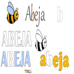 abeja colorear la letra BE