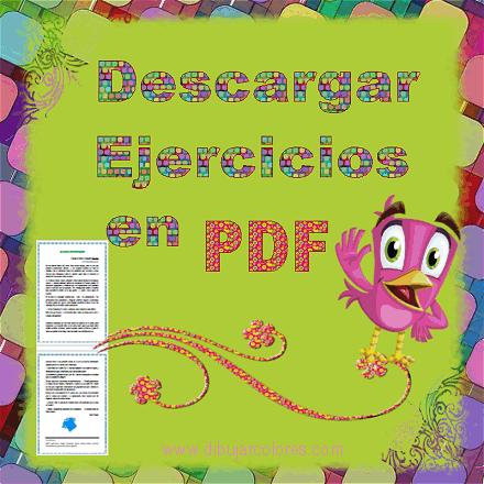 descargar  actividades y ejercicios en archivos formato PDF