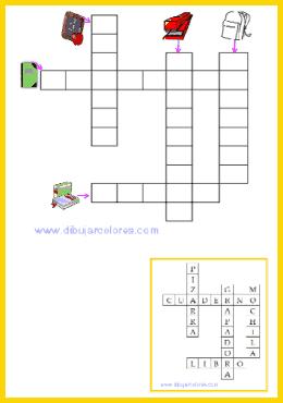Dos pasatiempos nuevos, en esta ocasión son crucigramas gráficos para  los pequeños de la familia