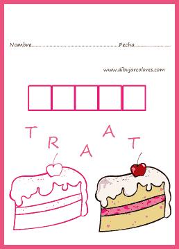 Colocar en orden las letras, cada una en su casilla para formar la palabra de la imagen