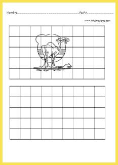Aprende a dibujar valiéndote de las cuadrículas.