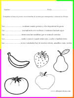 imprimir y completar segun contexto y gráfico