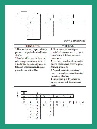 auf Spanisch Kreuzworträtsel