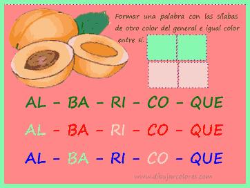sílabas a colores