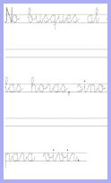 Fichas para imprimir caligrafías